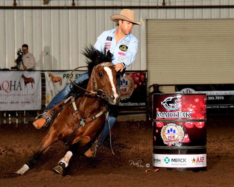 Pete Oen and Perks of Being Famous BBR Futurity Champion